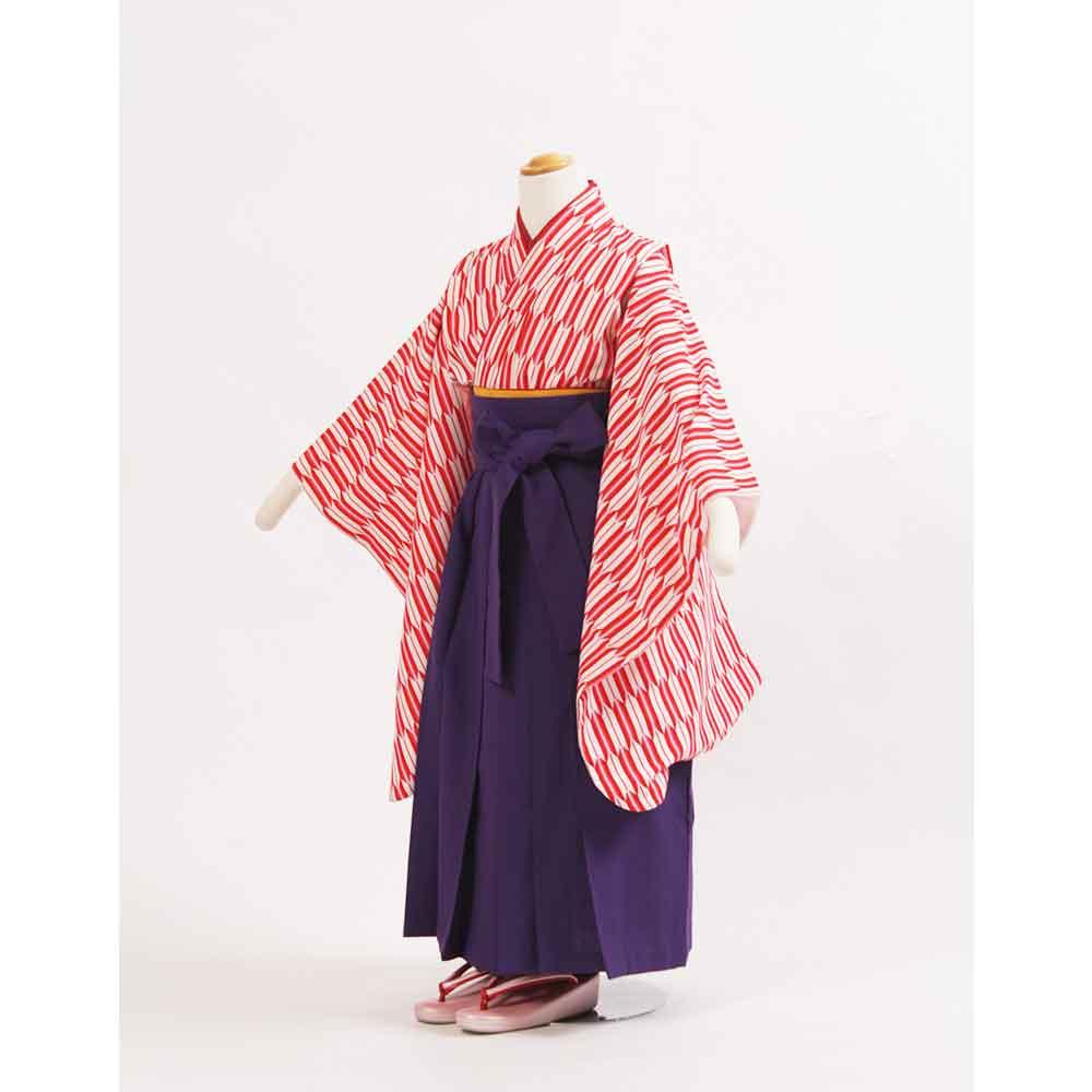 【レンタル】卒園式袴 赤矢絣着物【貸衣裳】かわいいハイカラさんスタイル