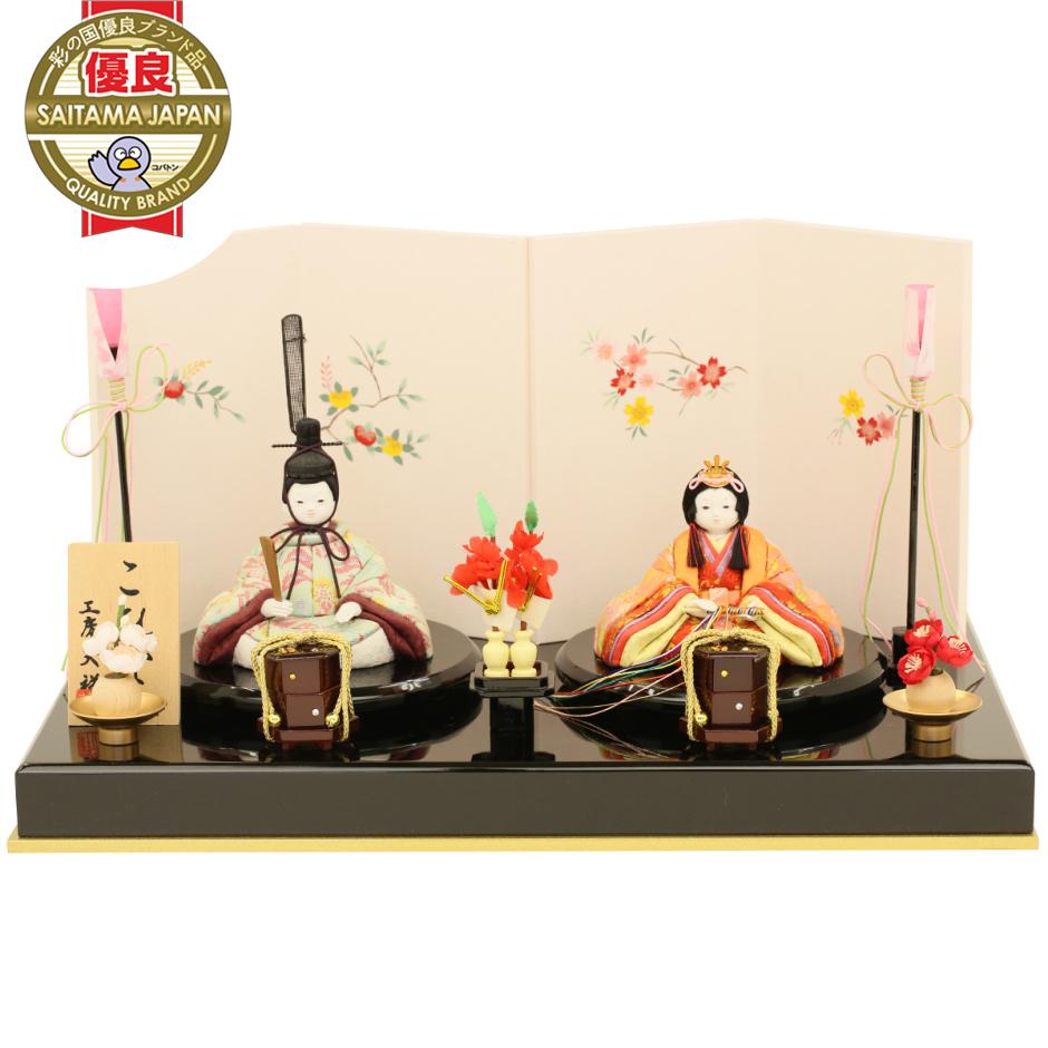 こひな 桜橘シリーズ 古典文様柄(誉勘商店の正絹・京都西陣織物)