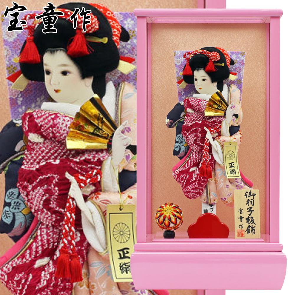 【エントリーで更にポイント10倍!】2019年 新作 羽子板 初正月 正月飾り まり飾り 彩春 ピンク 10号 人形広場