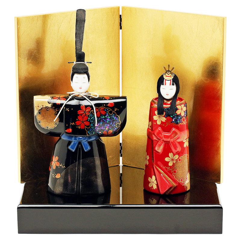 雛人形 ひな人形 立雛 立ち雛 親王飾り 漆器の雛人形 人形工房天祥オリジナル伝統工芸品 「人形工房天祥 限定オリジナル 漆器のひな人形」