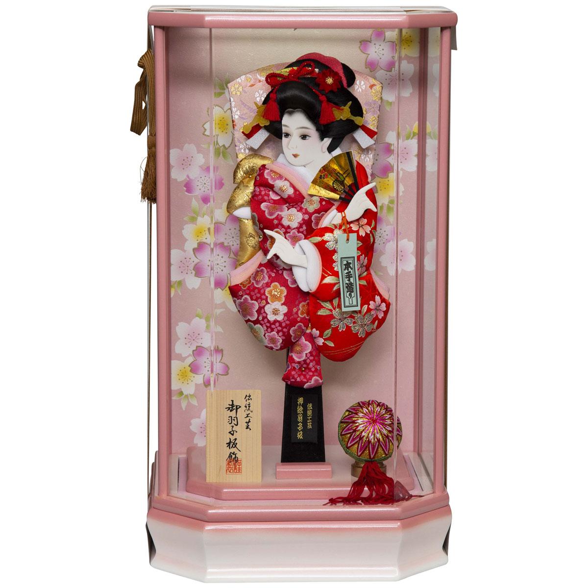 羽子板ケース飾り 桃姫 W-81040 羽子板 2020年 新作 初正月 正月飾り 羽子板飾り ケース ケース飾り