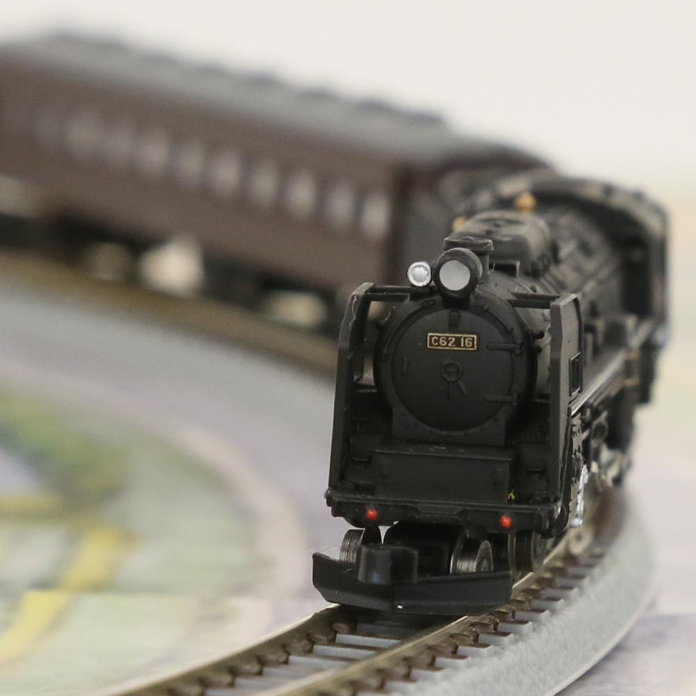 鉄道模型 天賞堂 プレミアムZスターターセット C62 16号機+客車 茶色 80011 Zゲージ