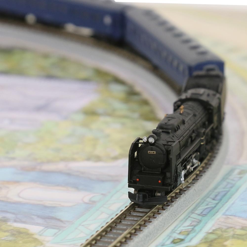 鉄道模型 天賞堂 プレミアムZスターターセット C62 3号機+客車 青色 80015 Zゲージ