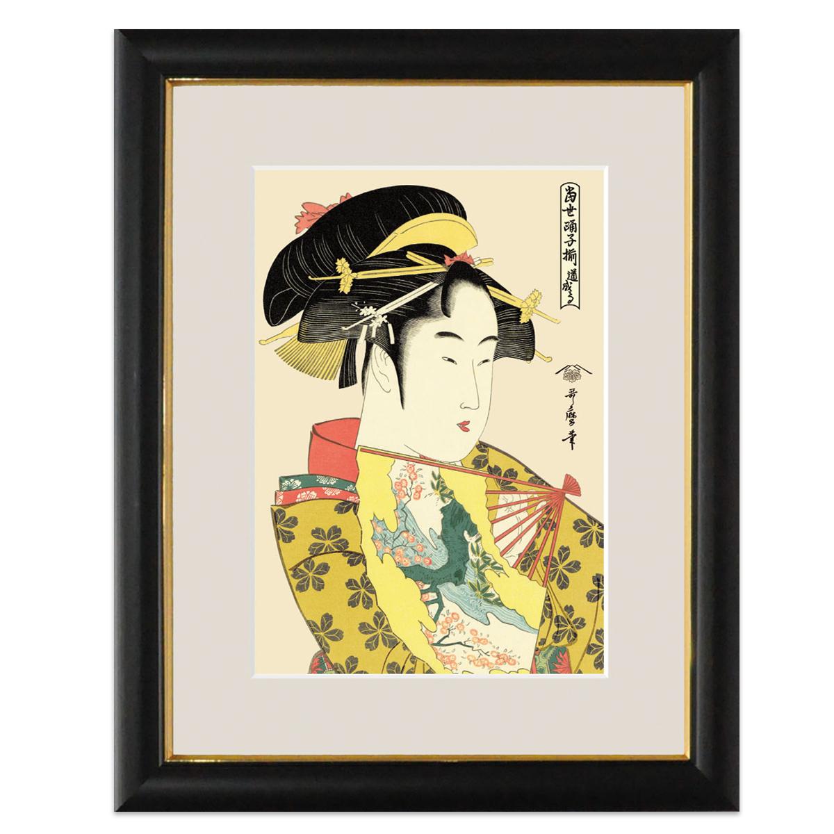 楽天市場 浮世絵 美人画 額飾り 道成寺 喜多川歌麿 サイズ 大 48cm
