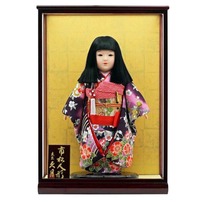 市松人形 雛人形 五月人形 5月人形 お出迎え人形 お祝い人形 初節句 久月 コンパクト ケース飾り 送料無料 【2020年 新作】 人形の久月 市松人形13号 人形広場