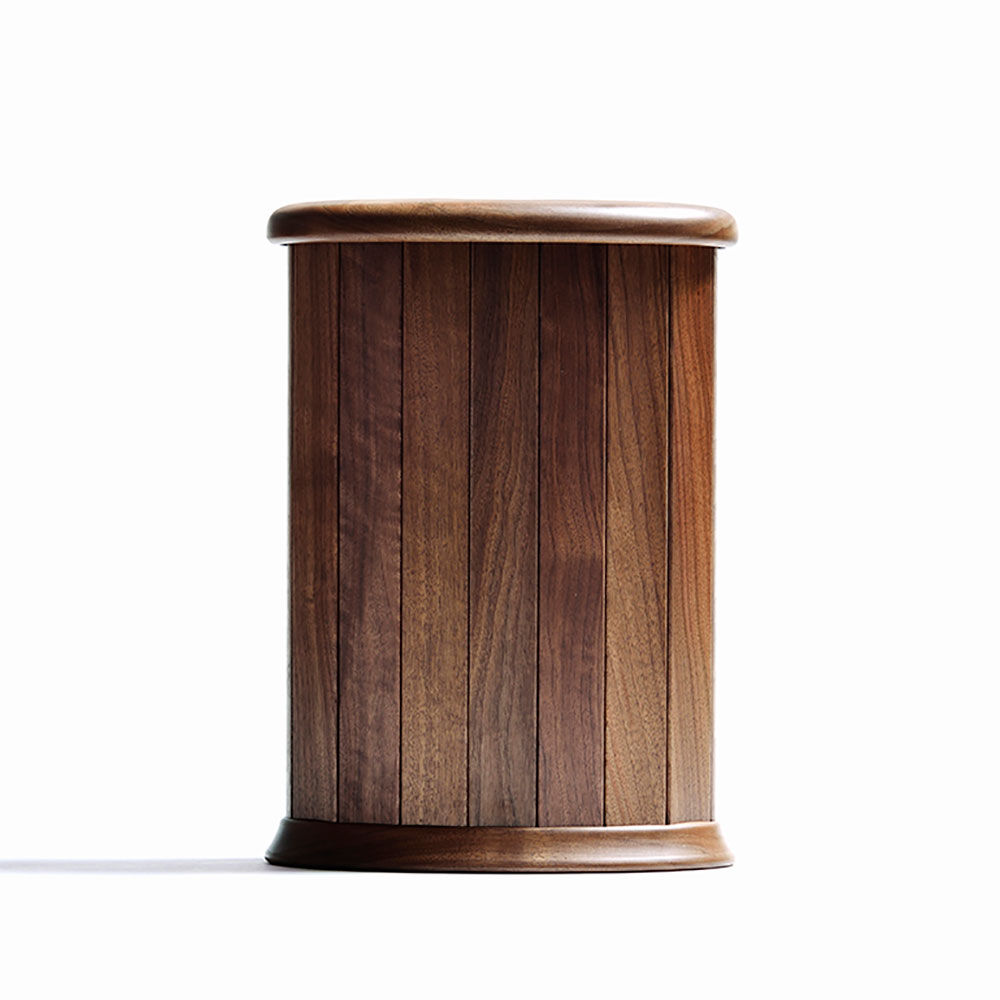 ササキ工芸 天然木 くずかご 楕円 L ウォルナット 【オブジェ・雑貨 雑貨】