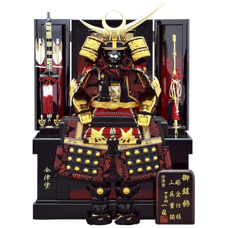 五月人形 コンパクト 7号 上杉鎧 収納飾り 【五月人形をブランドで探す 人形工房天祥オリジナル】
