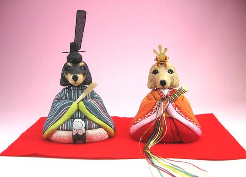 【エントリーで更にポイント10倍!】五月人形 兜 兜飾り 5月人形 わんこ雛 ダックス(大)犬雛 猫雛 人形広場