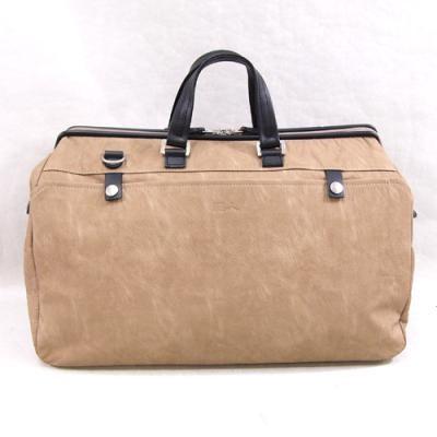 ボストンバッグ メンズ 送料無料 鞄 バックスキン調フェイクレザーボストンバッグ 日本製 豊岡市 縦31×横44×マチ20cm ベージュ