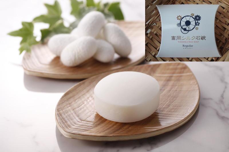 土著 (从富冈) 丝面部肥皂茧固体雪免费定期大小 80 g 大量清洁、 经济的 6 个月。 保湿和柔滑的皮肤对皮肤刺激性 / 敏感皮肤! 丝肥皂雪茧肥皂富冈丝绸厂在富冈丝绸