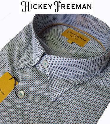 長袖メンズ カジュアルシャツ 小柄 レギュラーカラー スナップダウン 小柄 HICKEY FREEMAN ヒッキーフリーマン