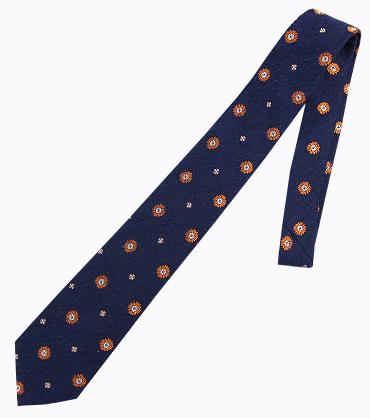 ネクタイ ミラショーン 小紋柄 お洒落 ネクタイ 変化柄 ネイビー