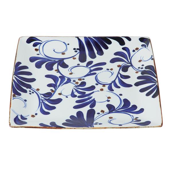 食器 器 皿 プレート 角 おしゃれ 可愛い 波佐見焼 陶器 日本製 karakusa 角プレート(大) 14501