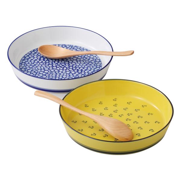 食器 器 皿 プレート ペア セット スプーン付 おしゃれ 可愛い 波佐見焼 磁器 日本製ノルディック プレートペアスプーン付 52052