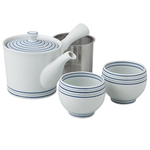 食器 茶器 急須 コップ 仙茶 セット おしゃれ 可愛い 波佐見焼 磁器 日本製白磁渦 茶器セット 56964