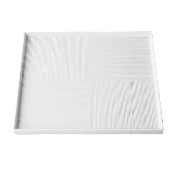 食器 器 皿 プレート 四角 おしゃれ 可愛い 贈り物 プレゼント 波佐見焼 磁器 日本製市松白磁 28cm正角プレート 73424