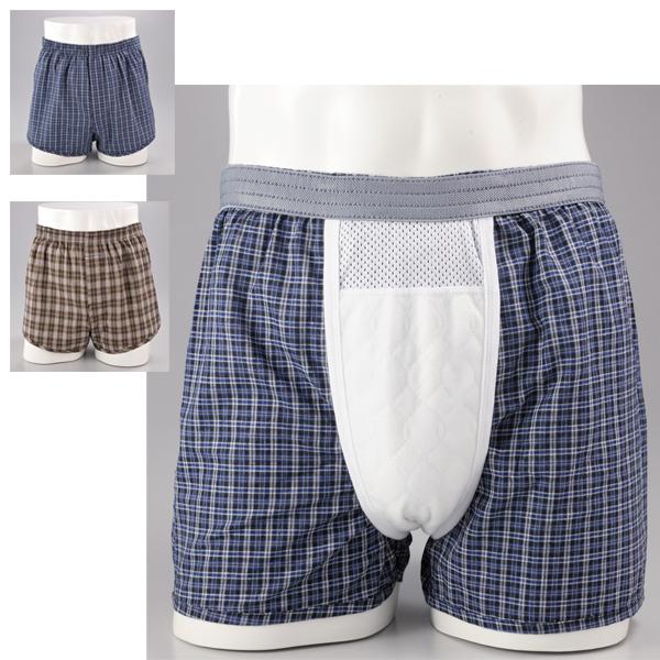 快適で安心なトランクスタイプの尿漏れパンツ SALE開催中 失禁パンツ 介護 メンズ 男性用 引き出物 下着失禁用トランクス2色組