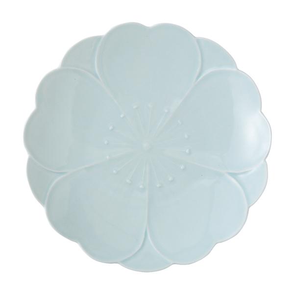 かわいい おしゃれ 食器 波佐見焼  皿さくらさくら おもてなし皿 青磁 produced by 田中ゆかり