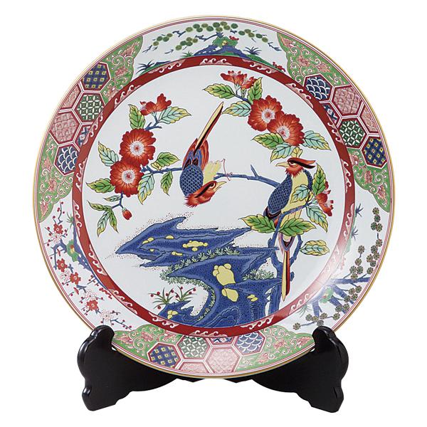 インテリア 飾り皿 大皿【送料無料】岩花鳥 15号飾皿