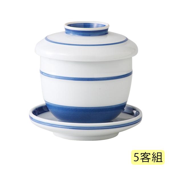 食器 碗 茶碗蒸し ちゃわんむし 台付き 来客 法事 蒸し物 セット 人気 おしゃれ 可愛い 日本製夢路 台付むし碗 5客組 99279