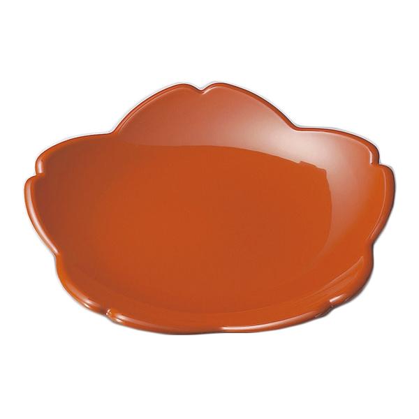 盛皿・盛鉢・菓子鉢 おもてなし花 さくら 無地 料理 盛皿 日本製 来客 越前漆器 艶 シンプル 上品 器 漆器 おすすめ 尺0桜盛鉢 洗朱 1007901