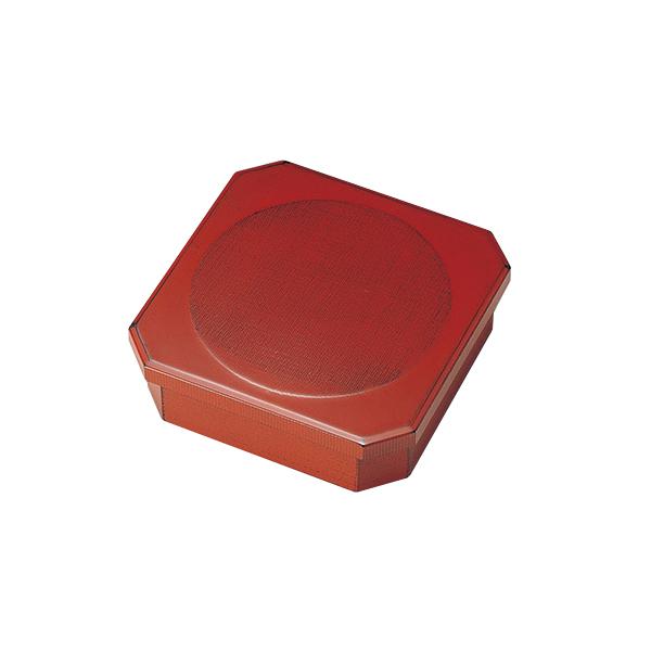 重箱 お重 おせち 木製 茶菓子 日本製 越前漆器 上品 定番 漆器 高級 正月 弁当 菓子器 布目 一ヶ重 根来 1015108