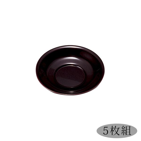 茶托 5枚セット ティータイム 無地 おもてなし 高級 お茶会 緑茶 コースター 日本製 来客 越前漆器 うるし 艶 シンプル 上品 器 漆器 漆塗 手塗 おすすめ 百合茶托(小)溜 5枚組 1005901