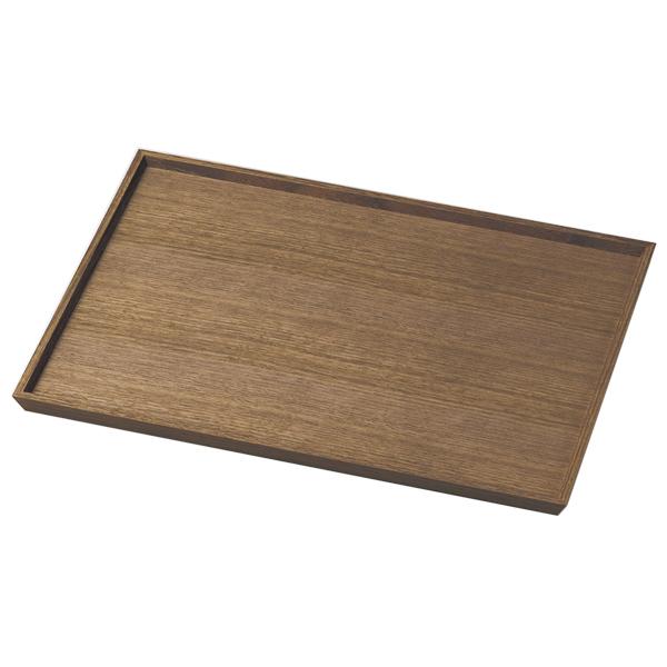 お盆 トレー 四角 長方形 おもてなし 来客 お祝い 日本製 来客 越前漆器 シンプル 上品 器 漆器 木製 おすすめ ウォールナット130長角盆 1010407