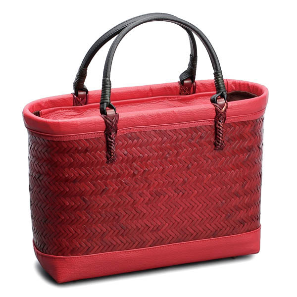 Basket Bag Luxury Red 60th Birthday Gift Presents Trendy Fashion Made In Japan Handmade Artisan Mori Kenichi Bamboo Next