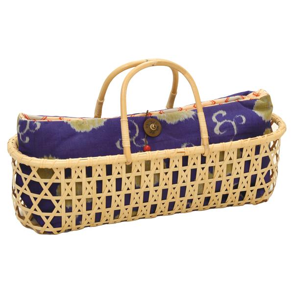 かごバッグ かごバック バスケット 籠 別府クラフト 白竹 日本製 【送料無料】布袋付小判バッグ