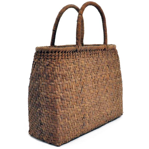 バッグ かごバック 浴衣 山葡萄かごバッグ 葡萄 つる 手作り 職人 可愛い シンプル 丈夫 【送料無料】wild grapevine bag 91425