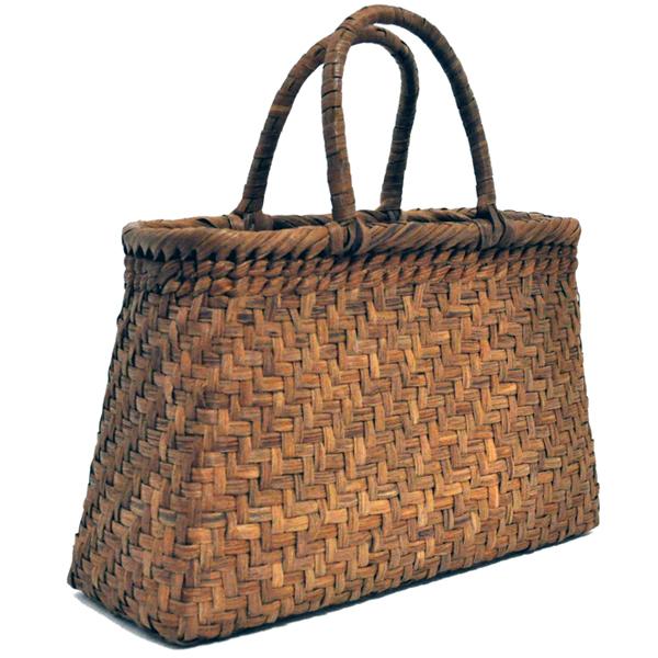 バッグ かごバック 浴衣 山葡萄かごバッグ 手作り 職人 可愛い シンプル 丈夫 【送料無料】wild grapevine bag 91452