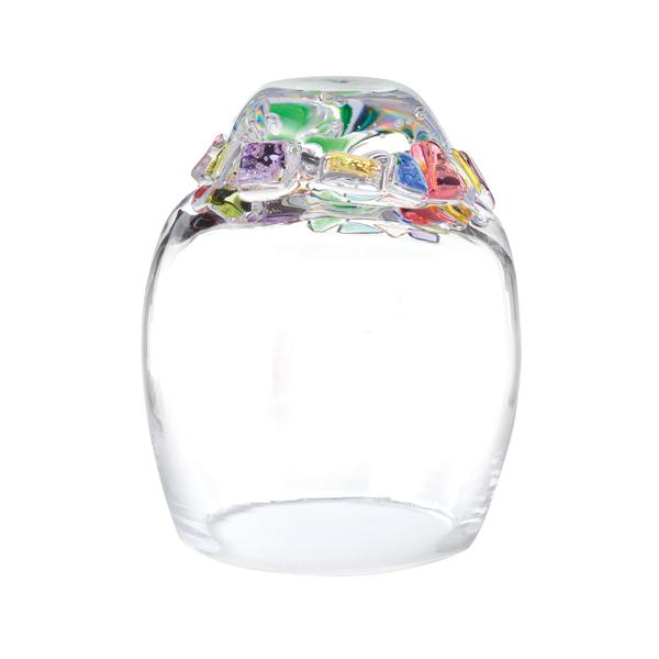 吹きガラス インテリア ドーム キャンドルカバー キャンドル ろうそく ロウソク ライト 日本製 LEDキャンドルドーム【送料無料】Dome-glass H100 モザイク