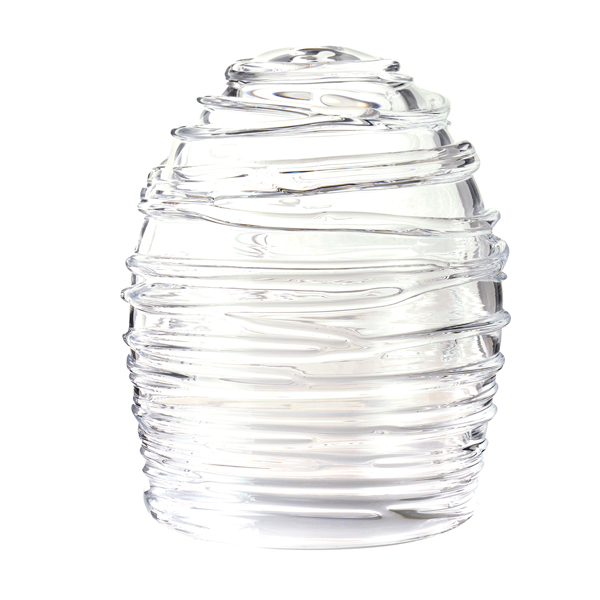 吹きガラス インテリア ドーム キャンドルカバー キャンドル ろうそく ロウソク ライト 日本製 LEDキャンドルドーム【送料無料】Dome-glass H150 巻きモール