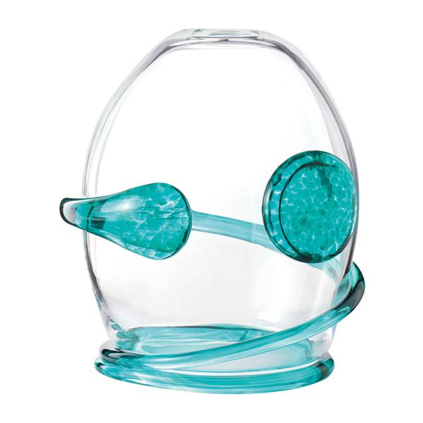 吹きガラス インテリア ドーム キャンドルカバー キャンドル ろうそく ロウソク ライト 日本製 LEDキャンドルドーム【送料無料】Dome-glass H150 スプリング