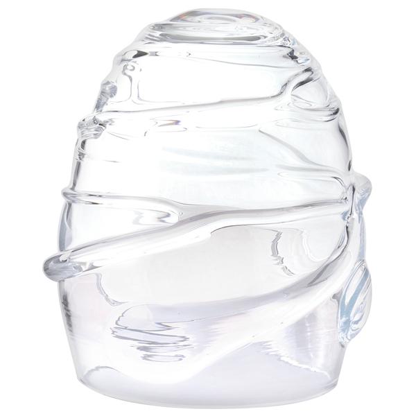 吹きガラス インテリア ドーム キャンドルカバー キャンドル ろうそく ロウソク ライト 日本製 LEDキャンドルドーム【送料無料】Dome-glass H200 巻きモール