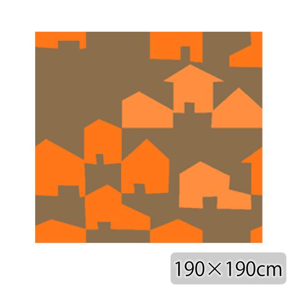ラグ マット カーペット 正方形 ベージュ ホットカーペット対応 日本製【代引き不可】【メーカー直送品】【送料無料】COUNTRY RUG 190×190 Orange