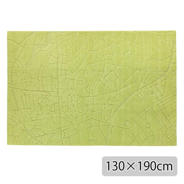 ラグ マット カーペット 長方形 イエロー グリーン おしゃれ かわいい ホットカーペット対応 日本製【代引き不可】【メーカー直送品】【送料無料】TALLINN RUG 130×190 Yellow Green