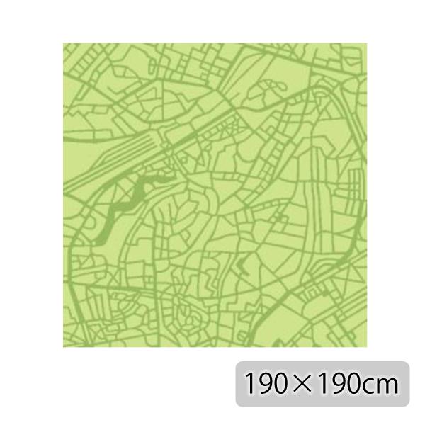 ラグ マット カーペット 長方形 イエロー グリーン おしゃれ かわいい ホットカーペット対応 日本製【代引き不可】【メーカー直送品】【送料無料】TALLINN RUG 190×190 Yellow Green