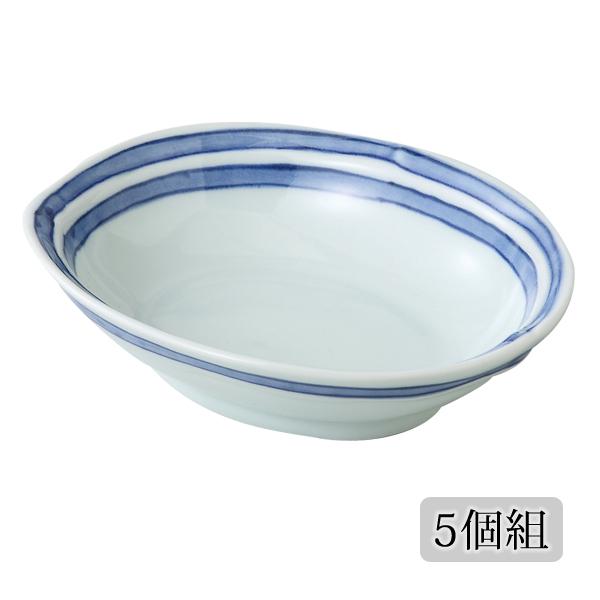 食器 皿 楕円 小鉢 セット 5個 上品 可愛い おしゃれ 磁器 プレゼント 贈り物 日本製 有田焼ライン 楕円小鉢 5個組