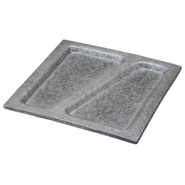 プレート 皿 大皿 盛皿 キッチン 食器 和 モダン スタイリッシュ おしゃれ シンプル 信楽焼 日本製銀彩 取り分けプレート G5-1404