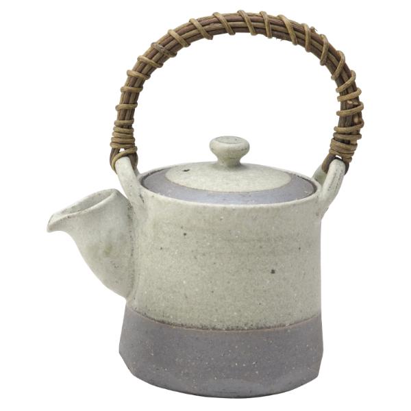 陶器 和風 土瓶 茶器 高級 和 モダン かわいい おしゃれ シンプル 信楽焼 日本製【送料無料】灰化緑彩土瓶 G5-2704