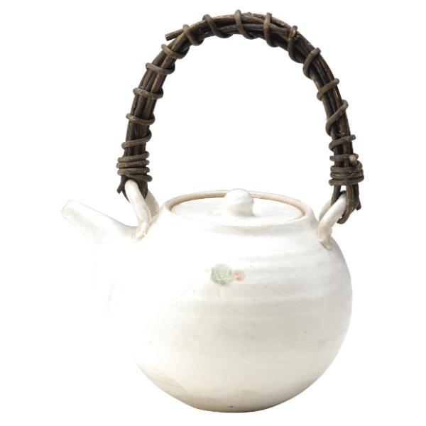 陶器 和風 土瓶 茶器 高級 和 モダン かわいい おしゃれ シンプル 信楽焼 日本製【送料無料】小紋土瓶 G5-2719