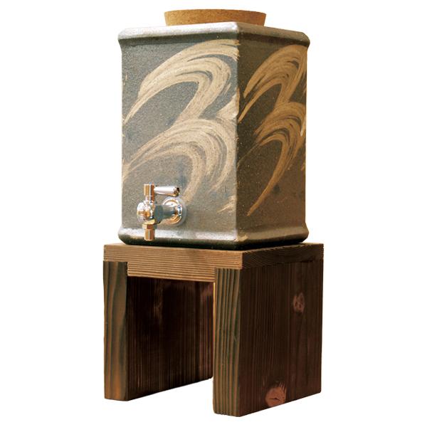 陶器 和風 酒器 焼酎サーバー 高級 和 モダン かわいい おしゃれ シンプル 信楽焼 日本製【送料無料】モダン角焼酎サーバー G5-3301
