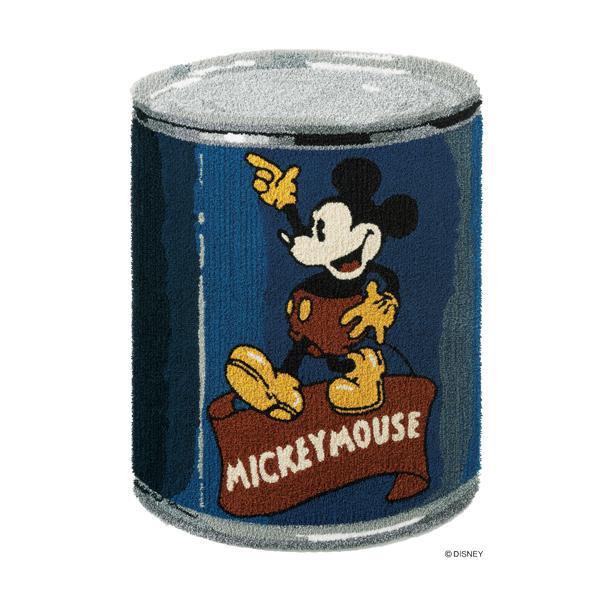 ラグ マット カーペット ミッキー ディズニー 缶 ブルー おしゃれ かわいい 日本製【代引き不可】【メーカー直送品】【送料無料】ミッキー カンラグ DRM-4031