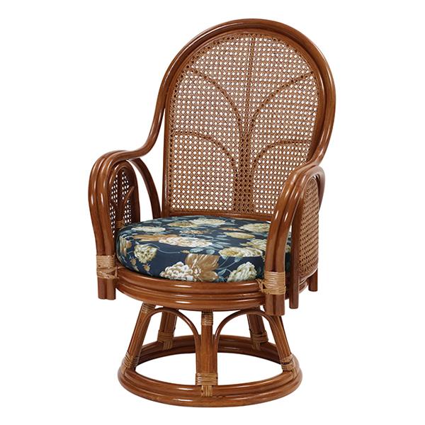 家具 籐家具 インテリア 椅子 ハイバックチェア 回転チェア リビング 縁側 籐 ラタン アジアン 和風 軽い 高級 リラックス 手作り エコ【代引き不可】【メーカー直送品】【送料無料】ラタンハイバック回転チェア C312HRA
