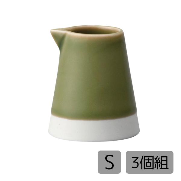 サイズや見た目も可愛らしいクリーマーです キッチン 雑貨 本物 小物 ミルクピッチャー クリーマー セット 3個 磁器 全商品オープニング価格 3個組 シンプル 可愛い プレゼント S 織部釉 おしゃれ 日本製es