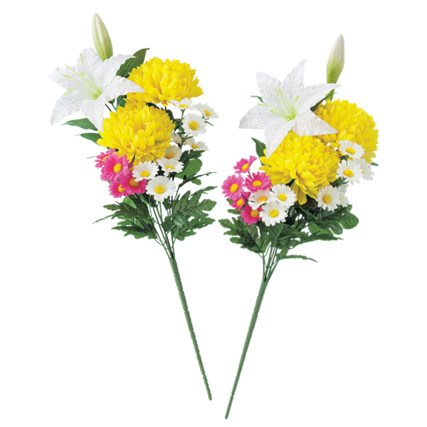 kodawarizakkahompo: Stockpiled Buddhist Buddhist flower Memorial Memorial Tomb artificial convenient fashion beautiful tomb for Buddha flowers (1 pair) ...