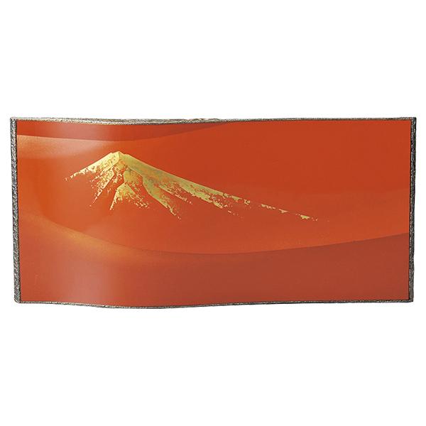 富士 漆絵 パネル 絵画 おしゃれ ギフト 越前漆器 艶 上品 漆器 高級 日本製【送料無料】赤富士 パネル 赤 1014203