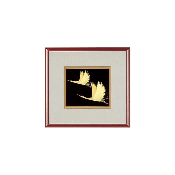 鶴 漆絵 パネル 絵画 額入り おしゃれ ギフト 越前漆器 艶 上品 漆器 高級 日本製【送料無料】鶴 パネル 1014603